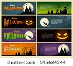 happy halloween banner. set of... | Shutterstock .eps vector #145684244