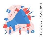 business advertising promotion. ... | Shutterstock .eps vector #1456844204