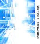 computer circuit on a blue... | Shutterstock . vector #14568505