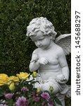 Cherub Statue Contemplating A...
