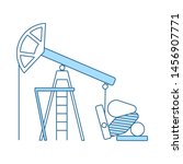 oil pump icon. thin line with...
