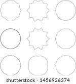collection of round decorative... | Shutterstock .eps vector #1456926374