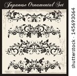 vector set of ornaments and... | Shutterstock .eps vector #145693064