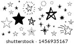 set of hand drawn stars. doodle ... | Shutterstock .eps vector #1456935167