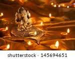 hindu god ganesh at diwali... | Shutterstock . vector #145694651