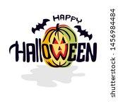 handwriting design happy... | Shutterstock .eps vector #1456984484