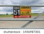 Vintage Area 51 Warning Sign...