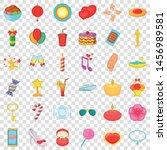 balloon icons set. cartoon... | Shutterstock .eps vector #1456989581