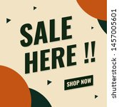 sale banner minimal design.... | Shutterstock .eps vector #1457005601