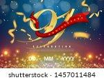 91 years anniversary logo... | Shutterstock .eps vector #1457011484