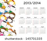 simple calendar on new school... | Shutterstock . vector #145701335