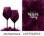 illustration of two wine... | Shutterstock .eps vector #1457016914