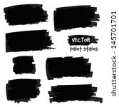 black paint spots vector set | Shutterstock .eps vector #145701701