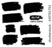 black paint spots vector set | Shutterstock .eps vector #145701701