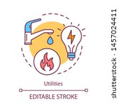 household utilities concept...   Shutterstock .eps vector #1457024411