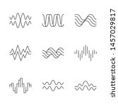sound waves linear icons set.... | Shutterstock .eps vector #1457029817