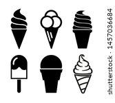 ice cream icons set   stock... | Shutterstock .eps vector #1457036684