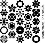set of vectorized flowers | Shutterstock .eps vector #145706021