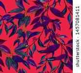 watercolor seamless pattern... | Shutterstock . vector #1457081411