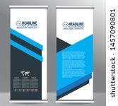 roll up business brochure flyer ... | Shutterstock .eps vector #1457090801