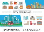 flat cityscapes colorful... | Shutterstock .eps vector #1457093114