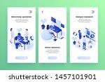 vector web banners templates... | Shutterstock .eps vector #1457101901