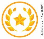 star badge flat colors design...