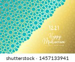 1441 hijri islamic new year.... | Shutterstock .eps vector #1457133941