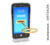 protection of mobile devices... | Shutterstock . vector #145714154