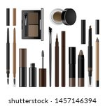 eyebrow cosmetics set. brow... | Shutterstock .eps vector #1457146394