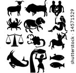 abstract illustration of zodiac ... | Shutterstock . vector #14571529