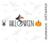 halloween vector illustration... | Shutterstock .eps vector #1457165414