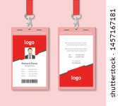 creative id card template with... | Shutterstock .eps vector #1457167181