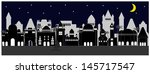 city view at night   Shutterstock .eps vector #145717547