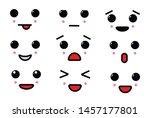 vector cartoon emoticon with... | Shutterstock .eps vector #1457177801