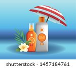 solar protection bottles...   Shutterstock .eps vector #1457184761