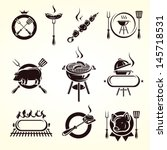 grill elements set. vector | Shutterstock .eps vector #145718531