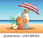solar protection bottles...   Shutterstock .eps vector #1457185361