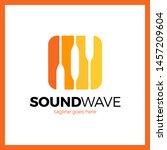round square radio signal logo. ...   Shutterstock . vector #1457209604