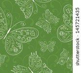hand drawing green seamless... | Shutterstock .eps vector #145721435