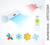 air conditioners cool fun... | Shutterstock .eps vector #145722365