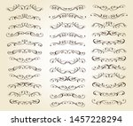 set of text delimiters  for... | Shutterstock .eps vector #1457228294