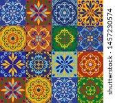 ceramic tile  portuguese tiles...   Shutterstock .eps vector #1457230574