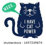 cute kitten for childish t... | Shutterstock .eps vector #1457239874