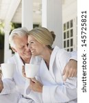 romantic middle aged couple in...   Shutterstock . vector #145725821