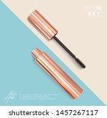 set of realistic vector golden... | Shutterstock .eps vector #1457267117