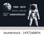 astronaut moon landing 50th...   Shutterstock .eps vector #1457268854