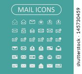 mail icons | Shutterstock .eps vector #145730459