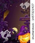 vertical rectangular flyer... | Shutterstock .eps vector #1457321927