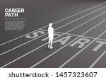 silhouette of businessman...   Shutterstock .eps vector #1457323607